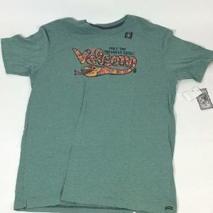 Volcom Mens Green Snake Logo Shirt